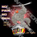 No Pain, No Gain Decal