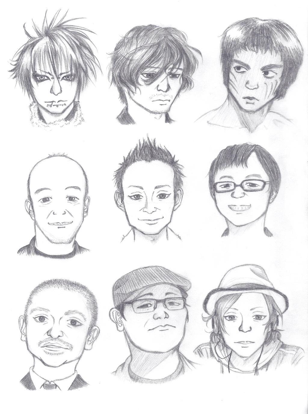 It's just an image of Transformative Asian Face Drawing