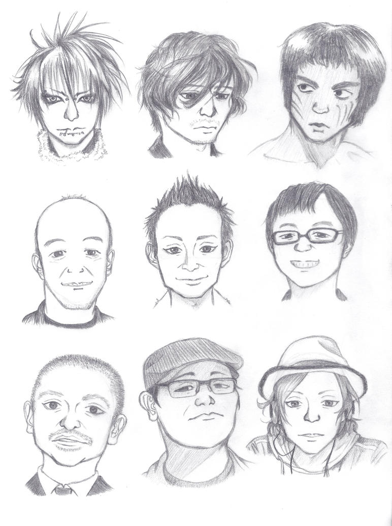 How To Draw A Face Asian (male) Faces Test By Shenaniboom On Deviantart  Similiar Asian Face Sketch Keywords How