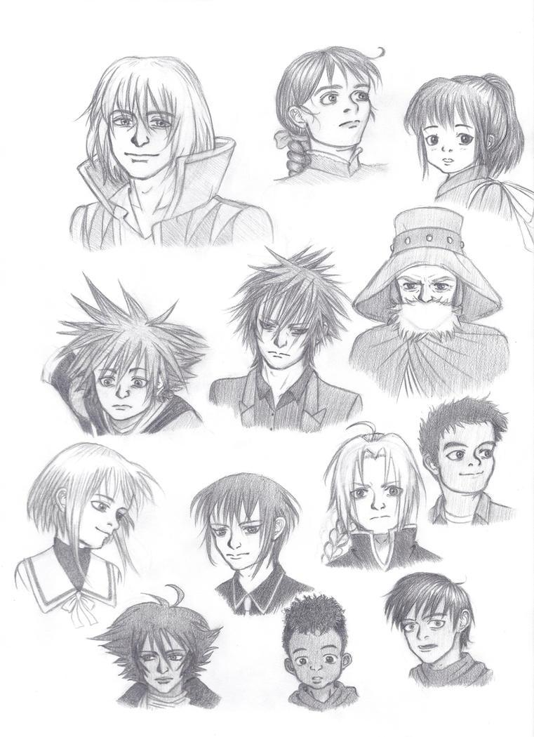 Anime Character Sketch Dump By ShenaniBOOM On DeviantArt