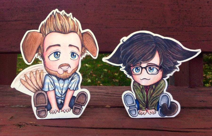 Rhett Puppeh and Link Kitteh by ShenaniBOOM