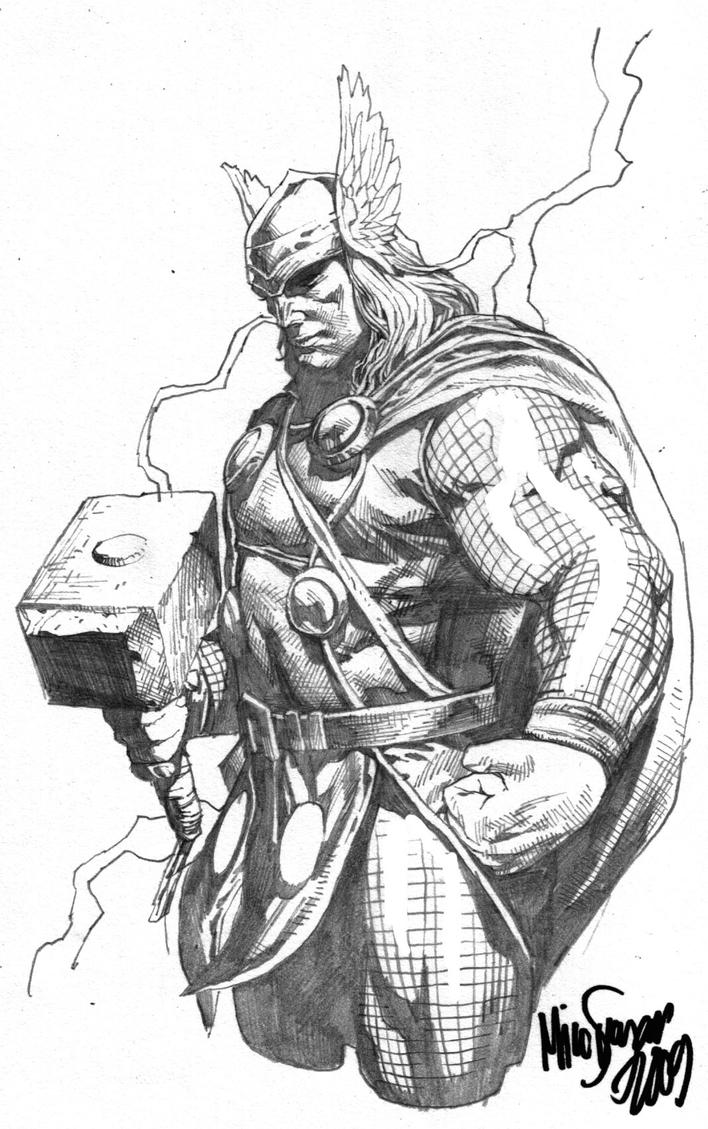 Thor Sketch 2 by MicoSuayan on DeviantArt