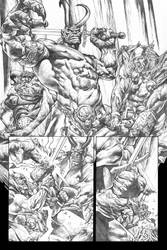Rage Of Thor page 1 grayscale