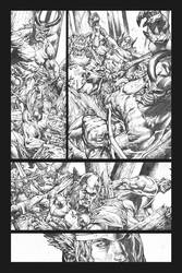 Rage Of Thor page 2 grayscale