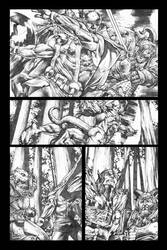 Rage Of Thor page 3 grayscale