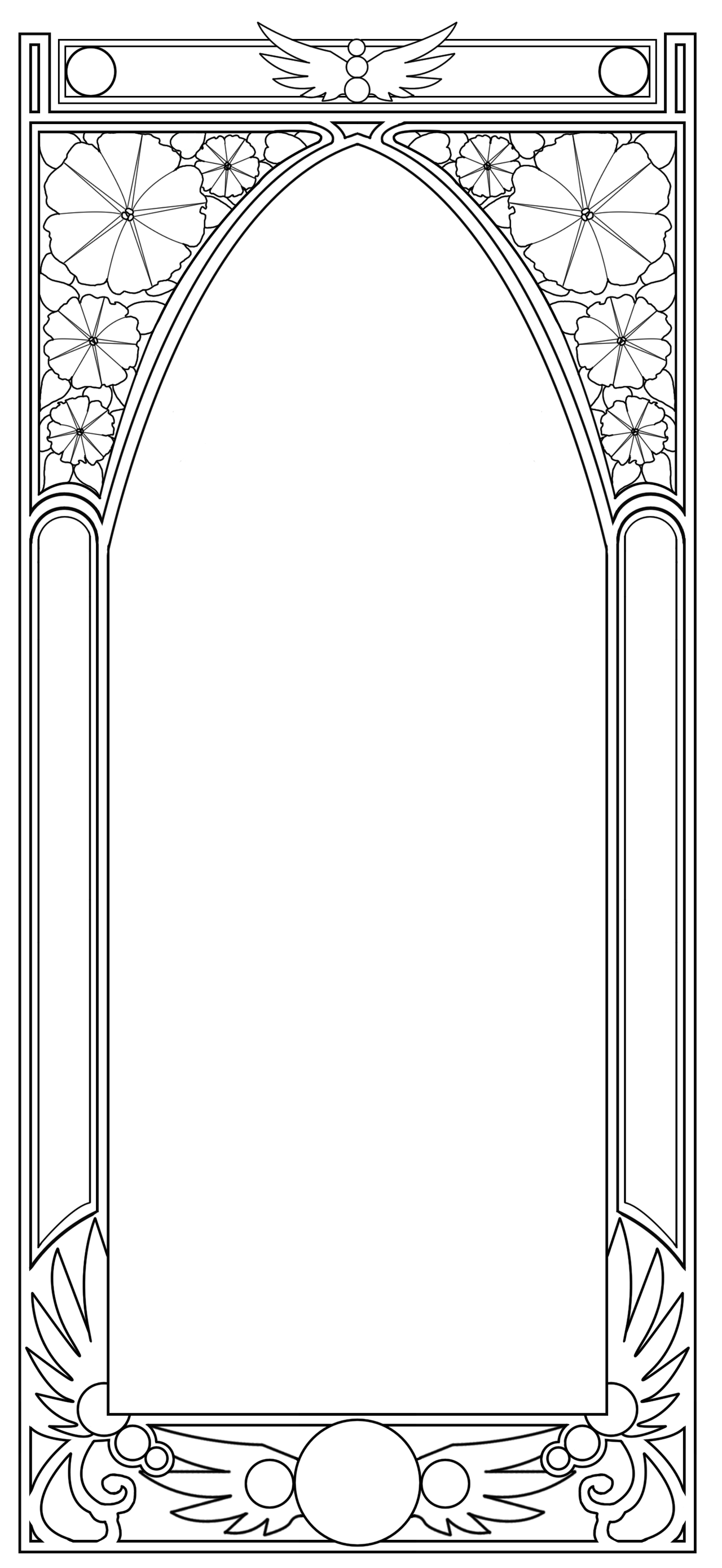 Free Art Nouveau Border By BiSnarkian On DeviantArt