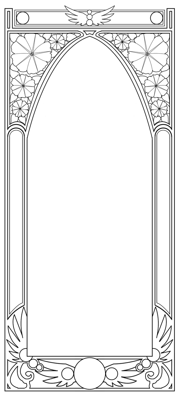 Free - Art Nouveau Border by BiSnarkian