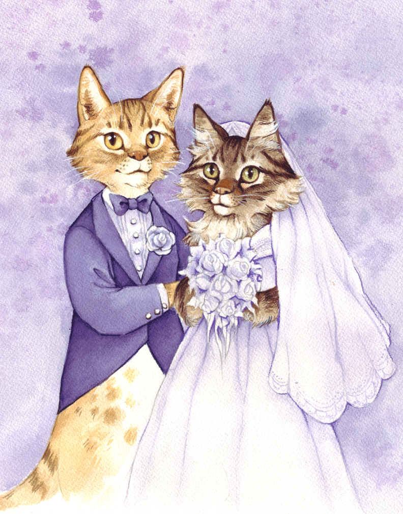 wedding cats by littlecrow on deviantart