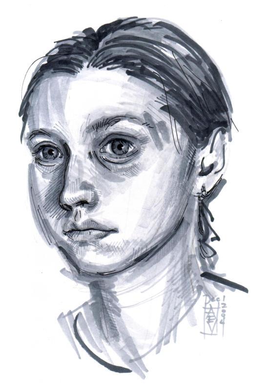 Self-Portrait by littlecrow