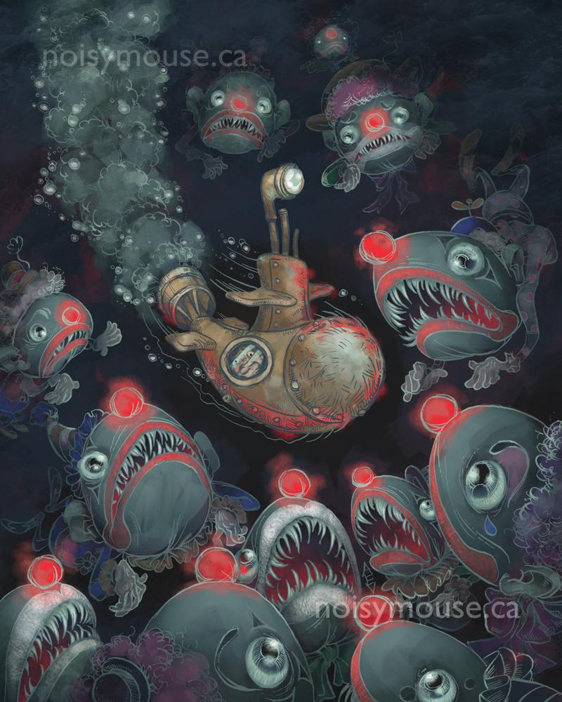 Deep-Sea Clowns by littlecrow