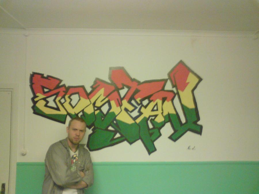 grafiti white paintbrush by Loofen