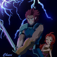Lion-o and Maynus by Chuvi