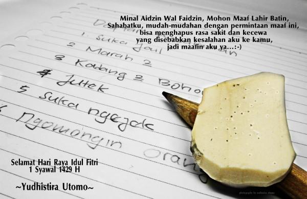 Mohon Maaf Lahir Batin by yudhistirautomo