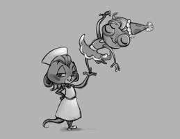 Nurse Sunil and Princess Precious by Caeledonian