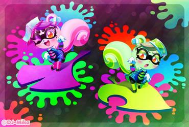 Squid Sister Squirrels, Staying Fresh!~ by DJ-Mika