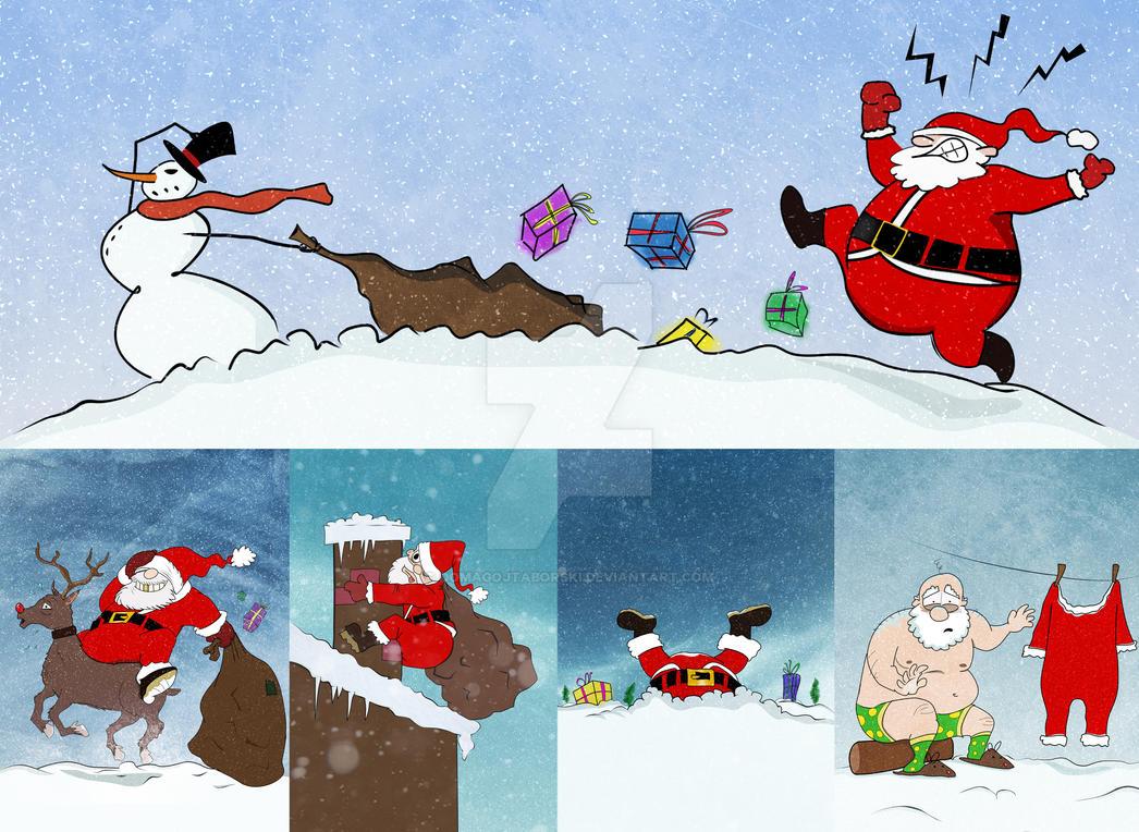 Clumsy Santa by DomagojTaborski