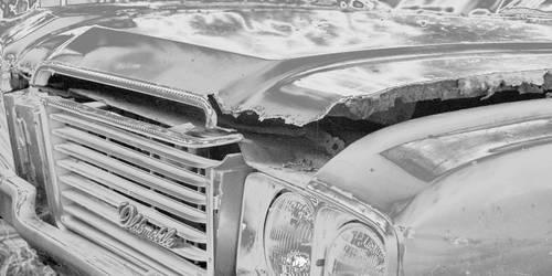 Oldsmobile in BW