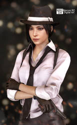 Ada Wong RE2 Outfit Noir