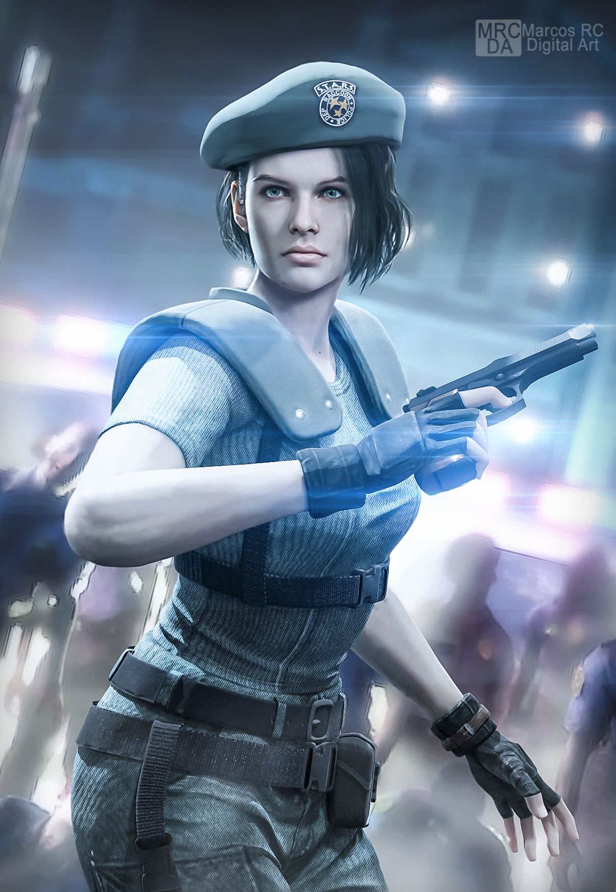 Jill Stars Re3 Costume From Re1 Remake Fanart By Mark Rc97 On