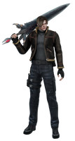 Leon with Dante's sword PNG