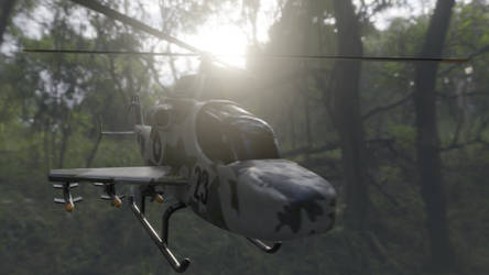 Helicopter created and animated by me