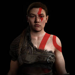 Abby Cosplaying Kratos 3
