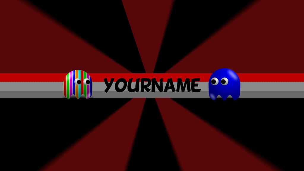 PacMan YouTube Banner Template by Bulbasuer on DeviantArt