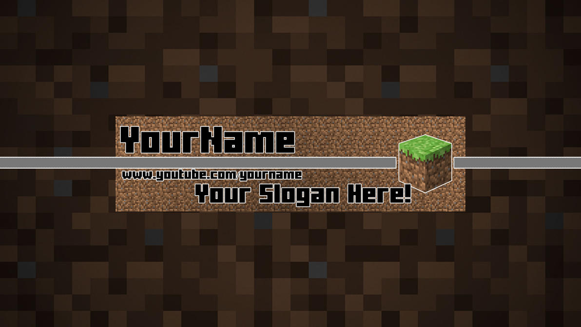 Minecraft YouTube Banner Template [NOW FREE] by Bulbasuer on DeviantArt