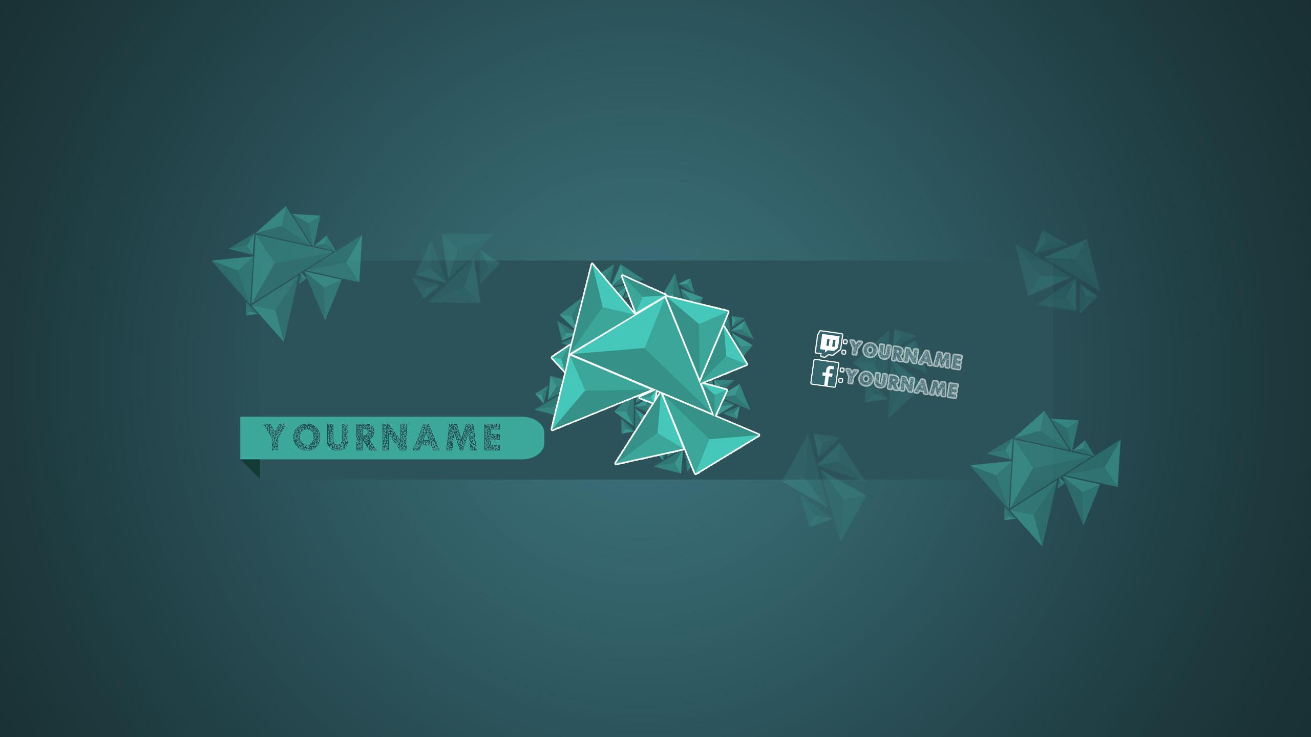 YouTube Polygon Banner by Bulbasuer on DeviantArt