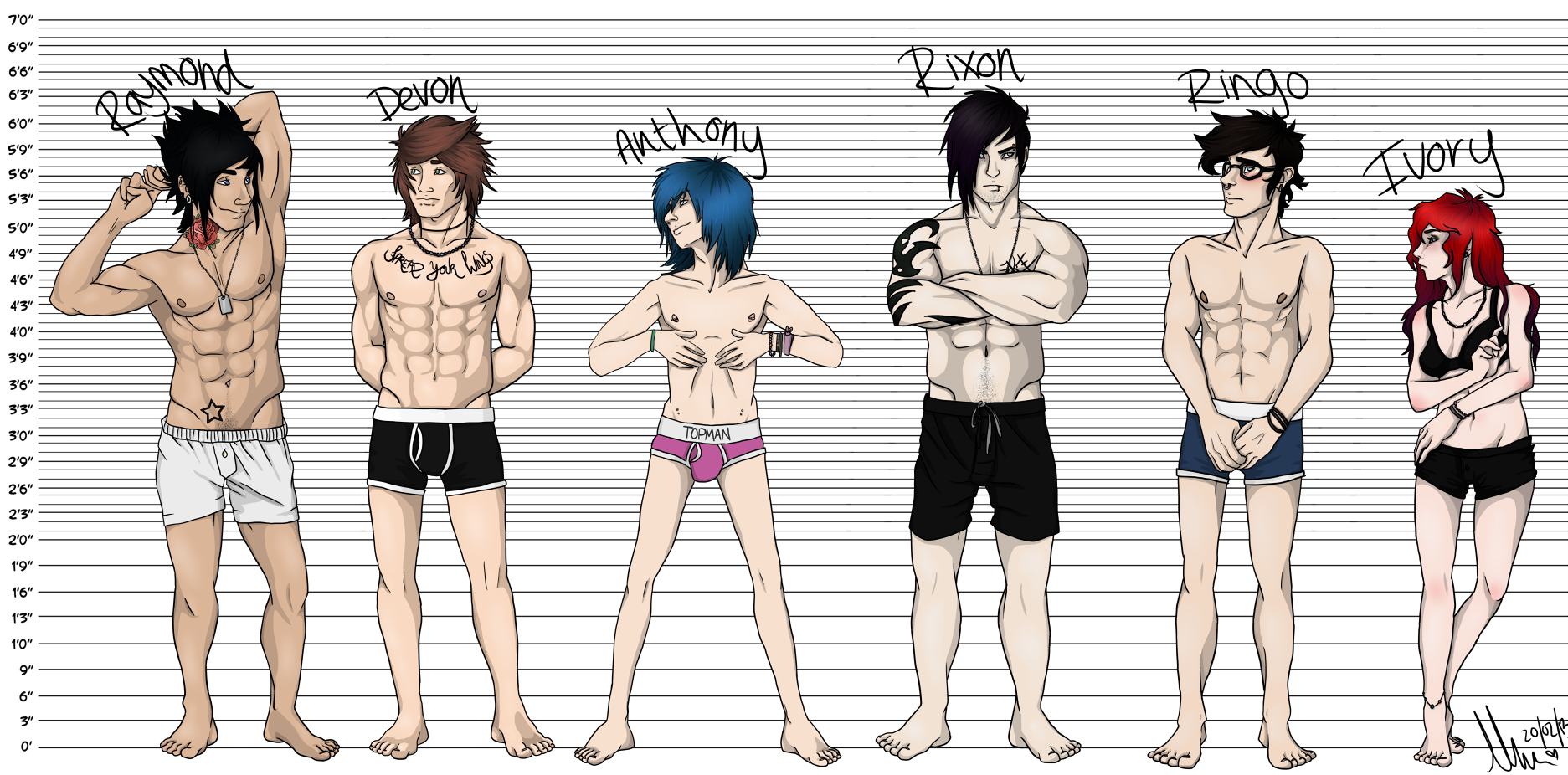 OC Height Chart by loriLUNACY on DeviantArt