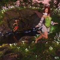Fairies Night Water
