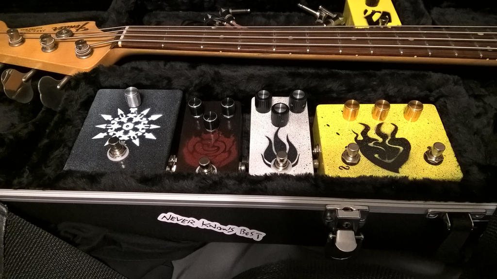 RWBY Guitar Pedal Set by MIFFthemorfin