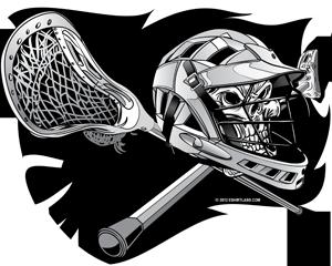 Helmet Skull Crossbones Lacrosse Sticks by grfxjams