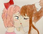 Sayori and Monika!