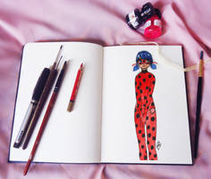Miracuous Ladybug In Sketchbook by 1MarZ