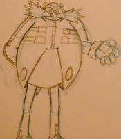 Rough Eggman Sketch by Th3AntiGuardian