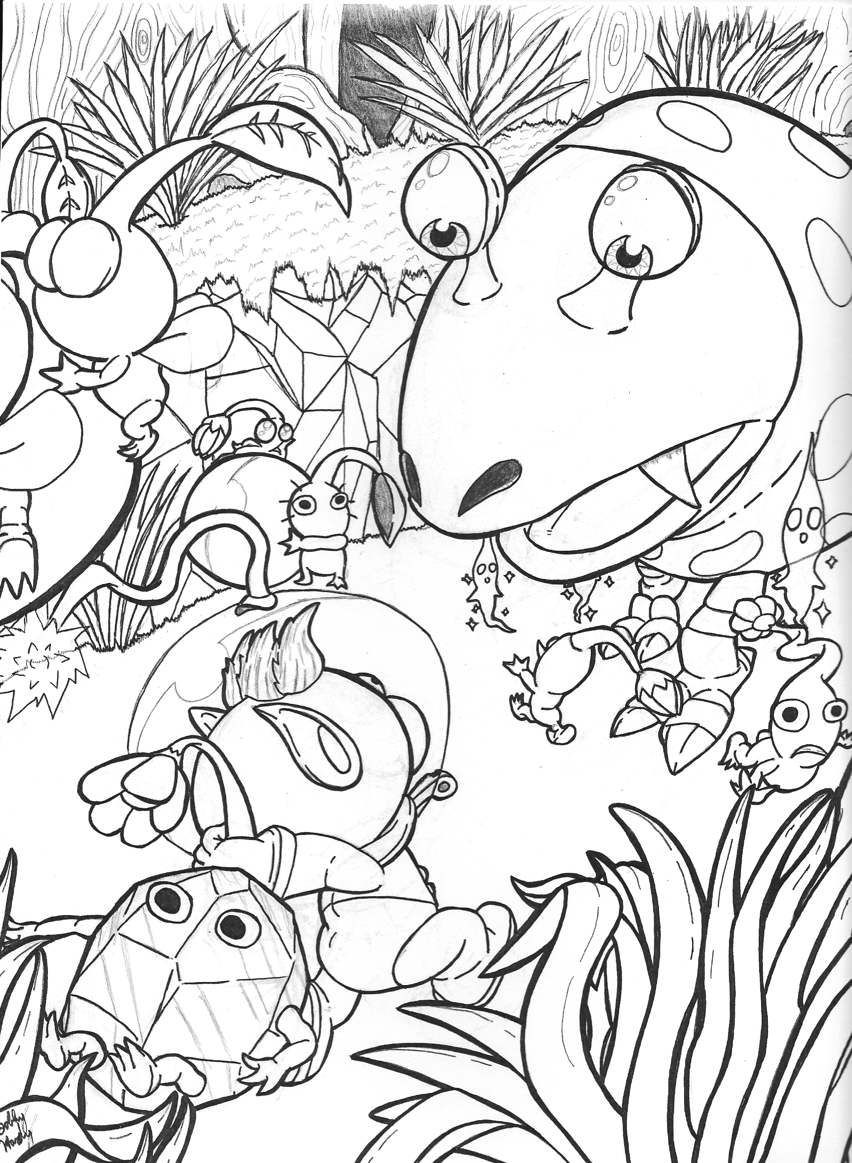 rock pikmin coloring pages - photo#2