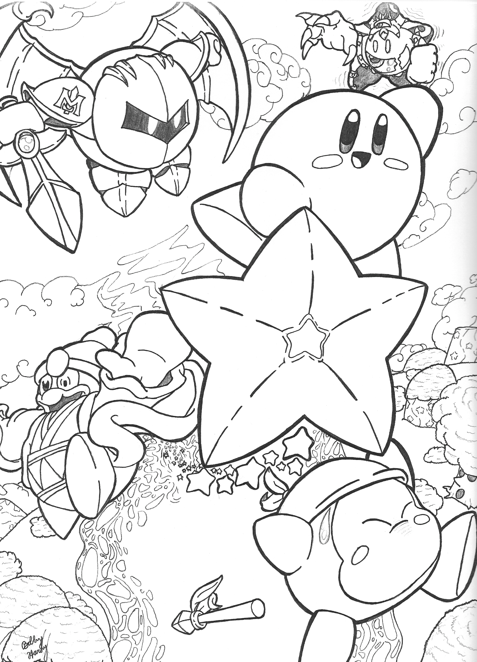 Coloring pages kirby -  Return Flight To Dreamland Kirby Commission By Th3antiguardian
