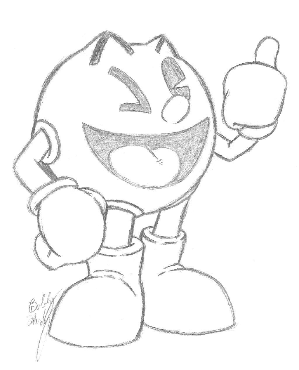 pac man pencil sketch by th3antiguardian on deviantart