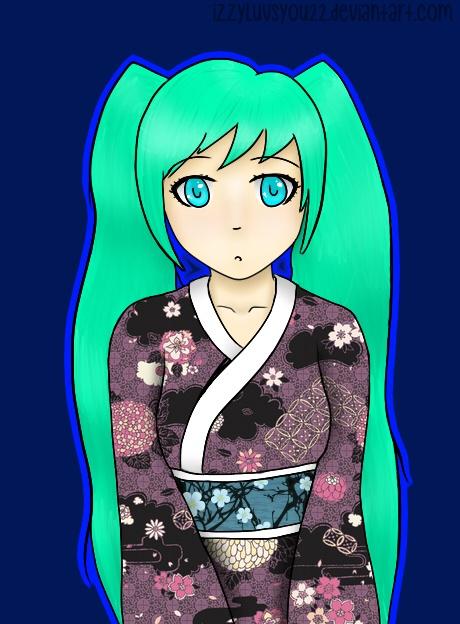 Hatsune Miku by IzzyLuvsYou22