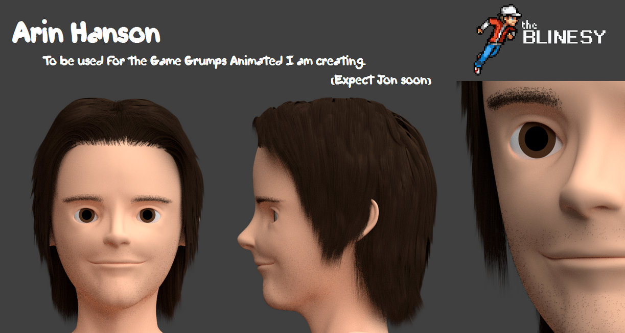 Arin Hanson 3D Model by Blinesy