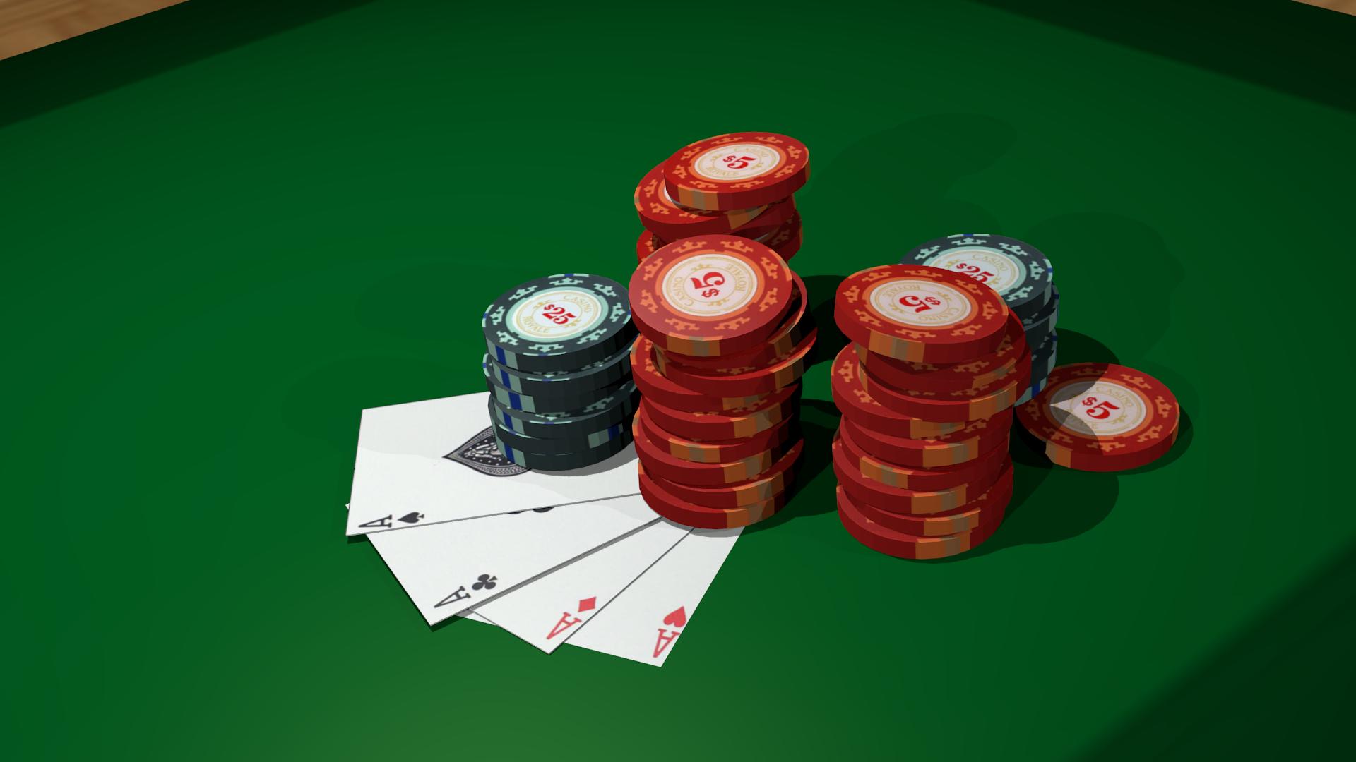Poker Table Felt Wallpaper