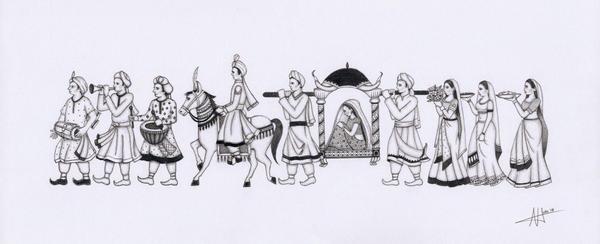 Hinduwedding explore hinduwedding on deviantart hindi wedding procession by arhicks junglespirit Images