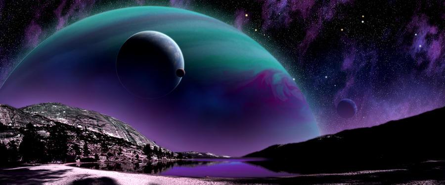 exoplanet landscape orbiting giant planet - photo #25