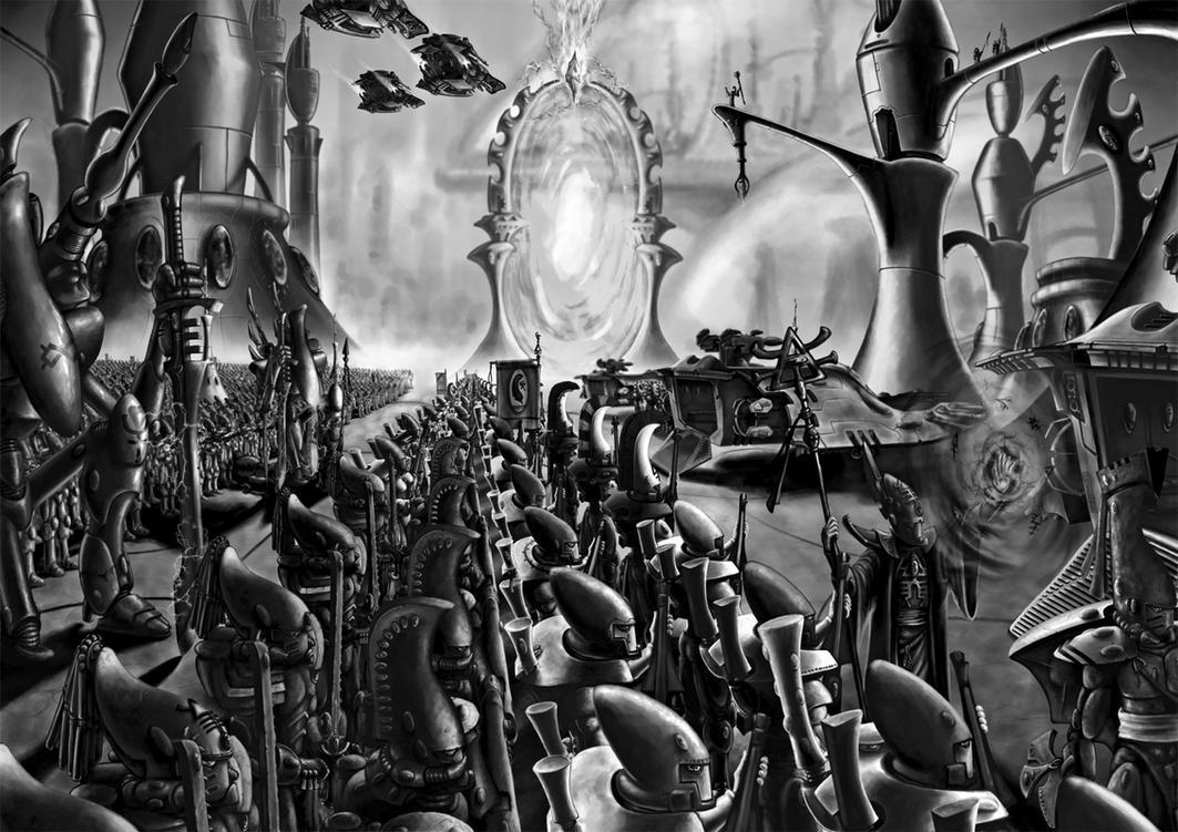 Eldar Craftworld at war by arhicks