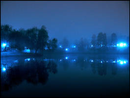 The Blue Lake by dantudose