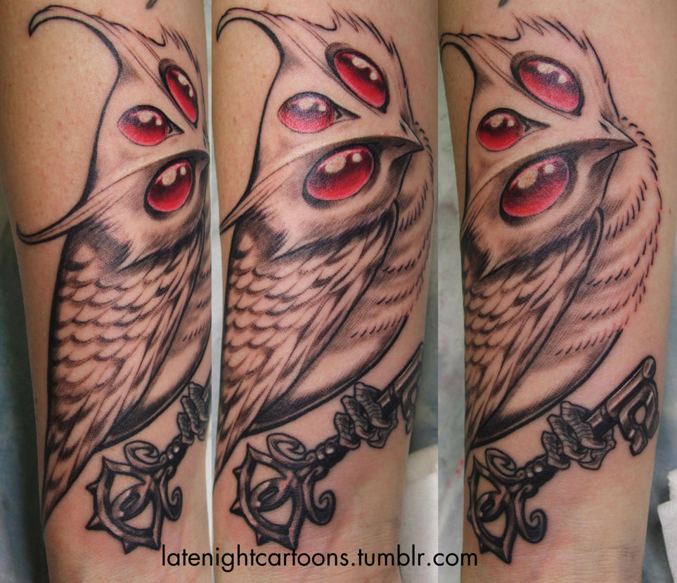 albino demon owl by hiraistrange