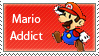 Mario Addict Stamp by SugarJem