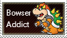Bowser Addict Stamp by SugarJem