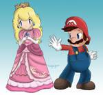 Mario and Peach Brawl